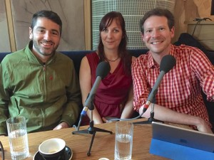 Steve Ackerman, Susie Boniface and Olly Mann at the Hospital Club for The Media Podcast